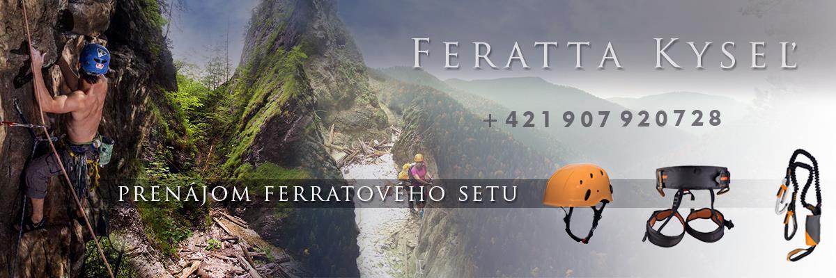 Ferrata Kyseľ - Slovenský raj- Ferratový set